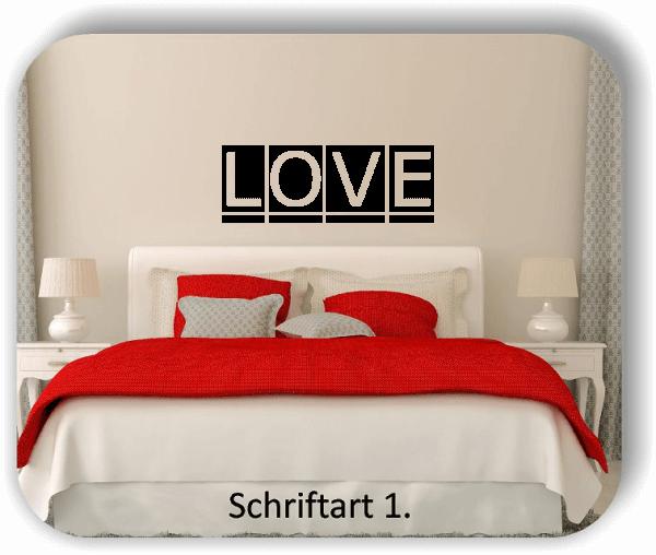 Wandtattoo - LOVE