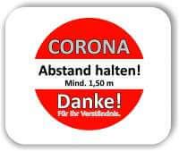 """1 Stück 40x40 cm Corona Aufkleber Fußboden """"Bitte Abstand halten"""""""