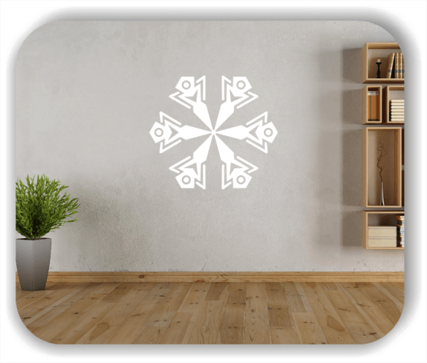 Wandtattoo - Snowflakes - ab 50x47 cm - Motiv 2518