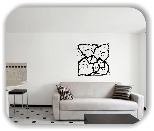 Wandtattoo - Quadratisch Florale Silhouetten - Motiv 39