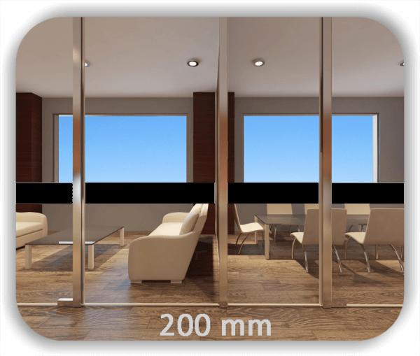 Durchlaufschutz Folie - Uni Farbig - Höhe: 20 cm - Streifen