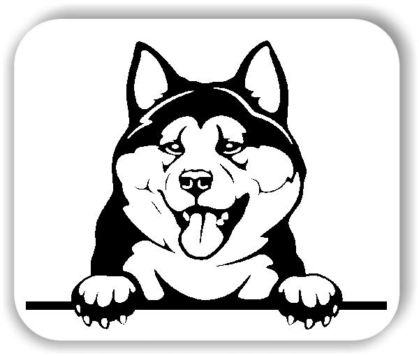Wandtattoo - Hunde - Akita - ohne Rassename