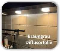 Zuschnitt Warmlicht Braungrau - Diffusorfolie - LED Warmlichtfilter