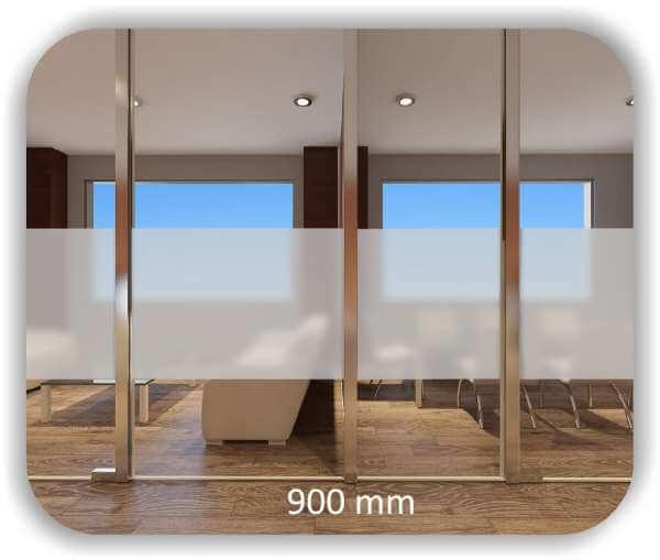 Durchlaufschutzfolie - Milchig - Höhe: 90 cm - Streifen