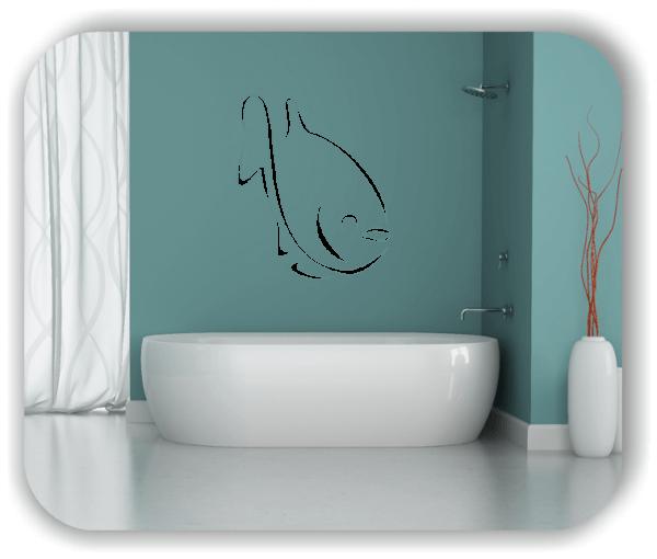 Wandtattoo - Tier Silhouette - ab 50x60 cm - Fisch