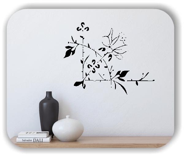 Wandtattoo - Florale Blumen & Pflanzen - ab 50x39,5 cm - Motiv 3033