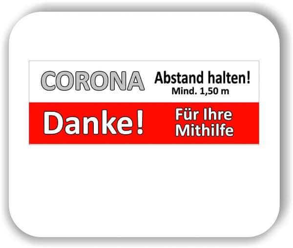 """1 Stück 60x20 cm Corona Aufkleber Fußboden """"Bitte Abstand halten"""""""