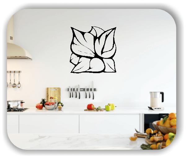 Wandtattoo - Quadratisch Florale Silhouetten - Motiv 12