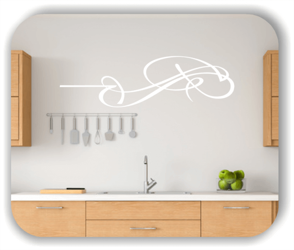 Wandtattoo - Schnörkel Design - ab 60 x 18 cm - Motiv 02