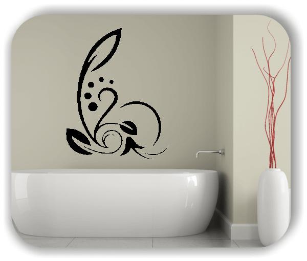 Wandtattoo - Florale Blumen & Blätter - Motiv 42