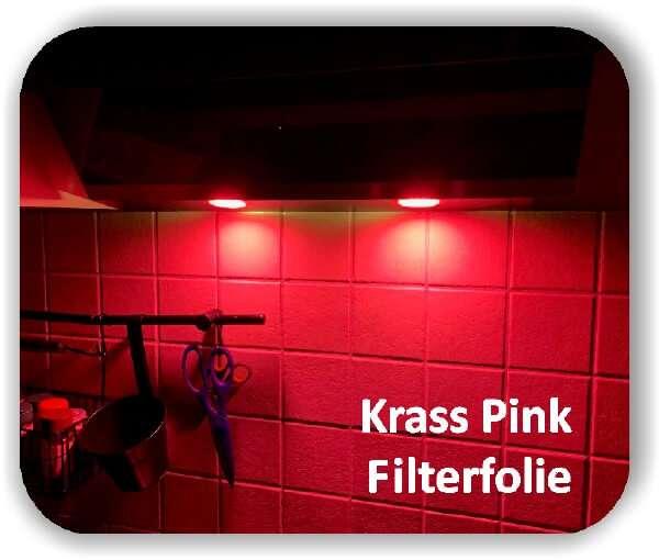 Zuschnitt Filterfolie Pink - LED Warmlichtfolie - LED Tönungsfolie