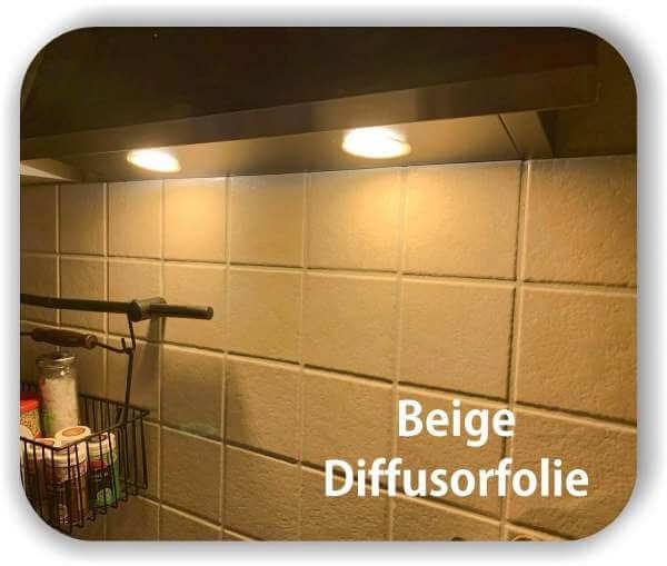 Zuschnitt LED Filterfolie Beige - LED Tönungsfolie - Warmlicht