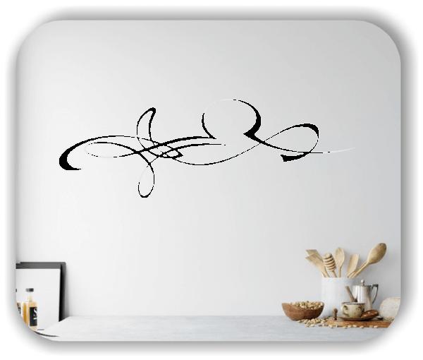 Wandtattoo - Schnörkel Design - ab 60 x 20 cm - Motiv 32