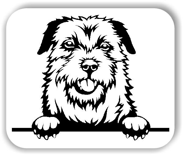 Wandtattoo - Hunde - Border Terrier - ohne Rassename