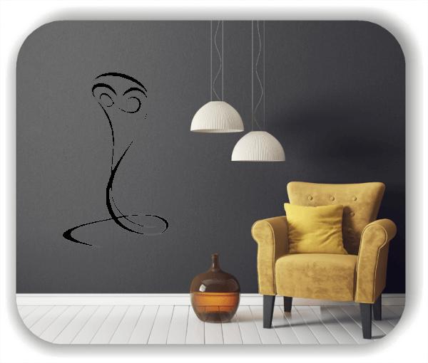 Wandtattoo - Tier Silhouette - ab 50x80 cm - Schlange