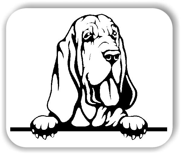 Wandtattoo - Hunde - Bluthund - ohne Rassename