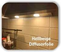 Zuschnitt LED Filterfolie Hellbeige - Diffusorfolie - Warmlicht