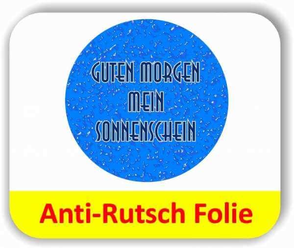 Anti-Rutsch Folie Digitaldruck - Wassertropfen blau