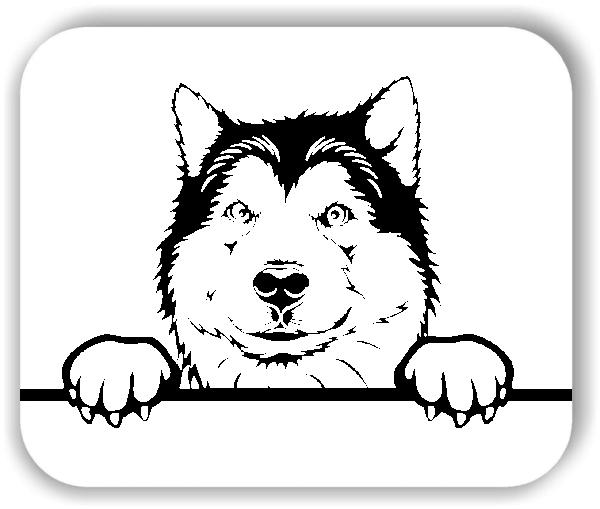 Wandtattoo - Hunde - Nordischer Schlittenhund - ohne Rassename