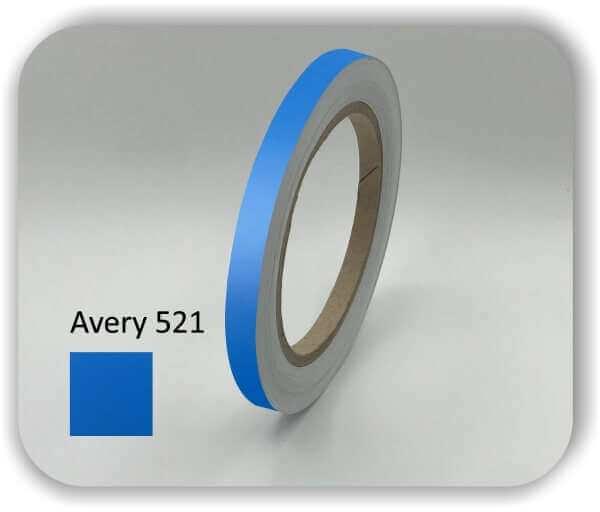 Intensives Blau 10 mm Zierstreifen für Auto, Motorrad & Boot