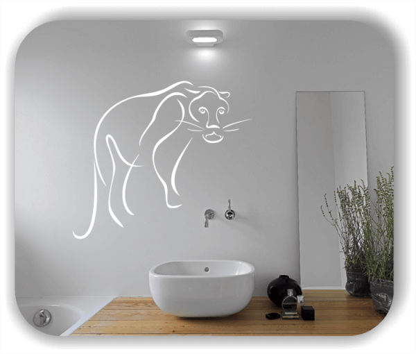 Wandtattoo - Tier Silhouette - ab 50x42 cm - Löwin