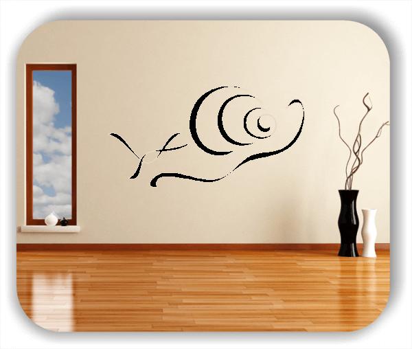 Wandtattoo - Tier Silhouette - ab 50x25 cm - Schnecke