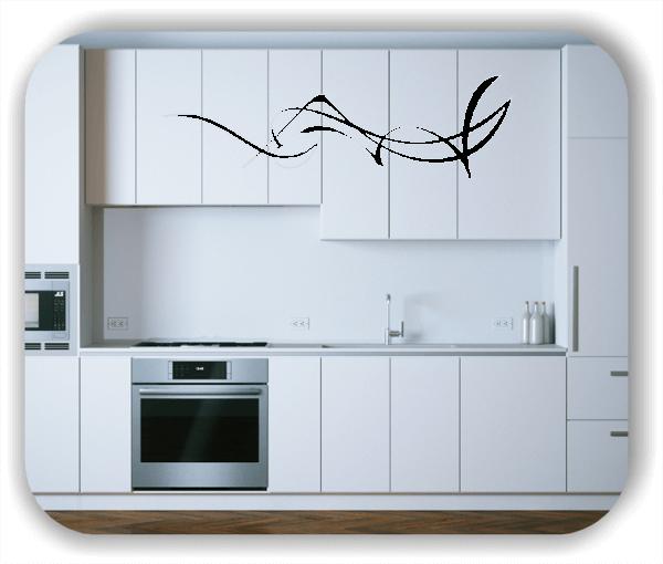 Wandtattoo - Schnörkel Design - ab 60 x 18 cm - Motiv 00