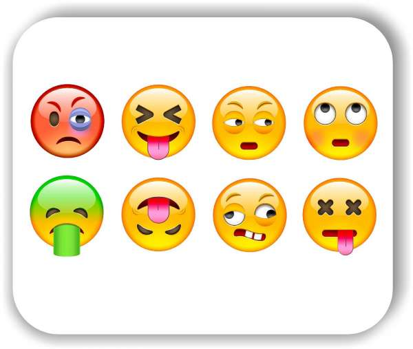 Strichgesicht - 8 verschiedene Motive - Genervte Gesichter