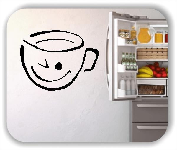 Wandtattoo - Zwinkernde Tasse