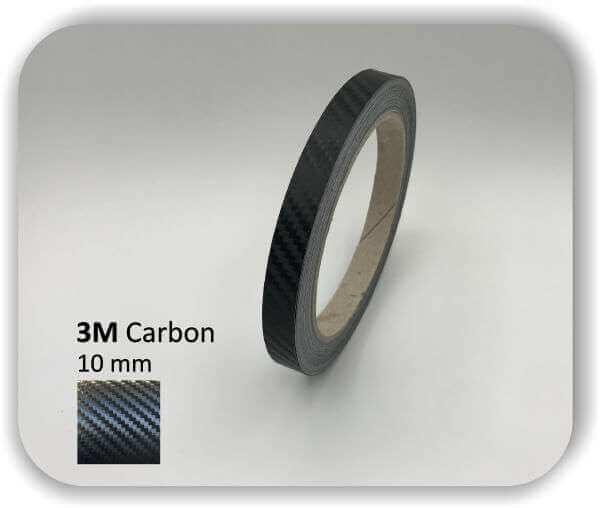 3M Zierstreifen Carbon Wrapping Folie 1080 3D-Folie 10mm für Auto Boot Motorrad