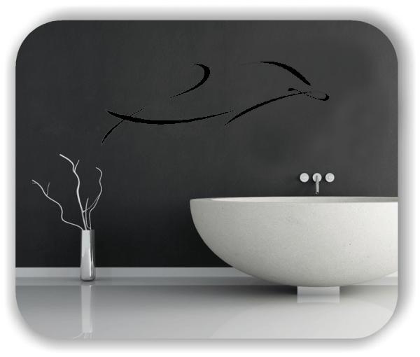 Wandtattoo - Tier Silhouette - ab 50x19 cm - Delfin