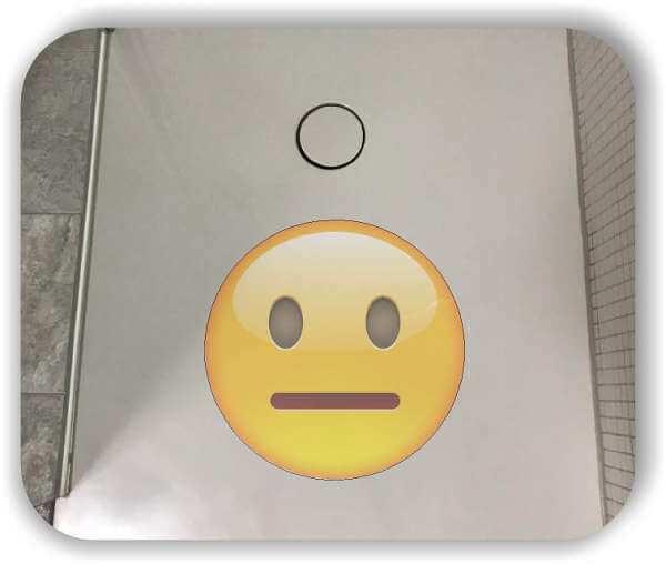 Anti-Rutsch Folie mit Digitaldruck - Strichgesicht - Neutral oder Pokerface