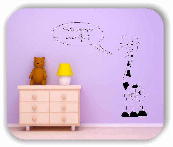 """Wandtattoo - Giraffe mit """"Guten morgen mein Spatz"""""""
