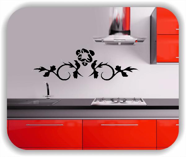 Wandtattoo - Florale Blumen & Blätter - Motiv 2800