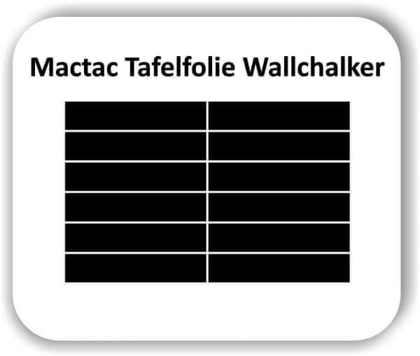 12 Stück 25 x 5 cm Tafelfolie Rechteckig Wallchalker