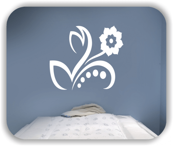Wandtattoo - Florale Blumen & Blätter - Motiv 36