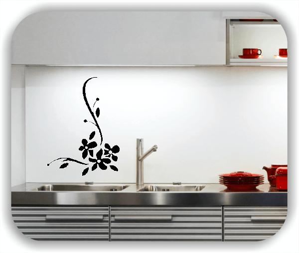 Wandtattoo - Florale Blumen & Blätter - Motiv 2863