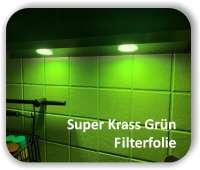 Zuschnitt Super Krass Grün- LED Filterfolie - Farbfilterfolie