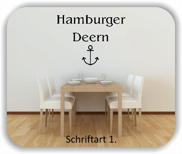Wandtattoo - Hamburger Deern