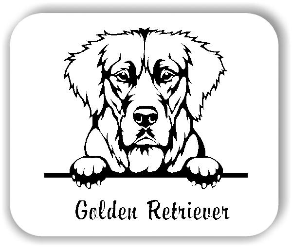 Wandtattoo - Hunde - Golden Retriever Variante 2