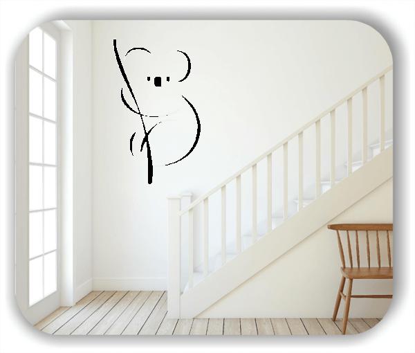 Wandtattoo - Tier Silhouette - ab 50x80 cm - Koala