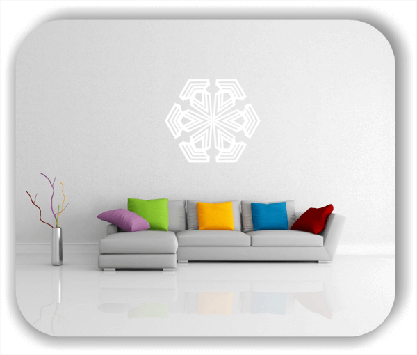 Wandtattoo - Snowflakes - ab 50x43 cm - Motiv 2563