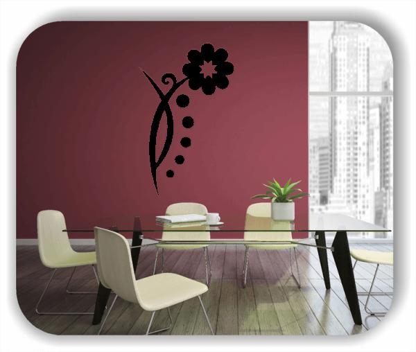 Wandtattoo - Florale Blumen & Blätter - Motiv 59