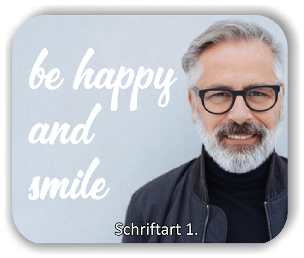 Wandtattoo - Be happy and smile