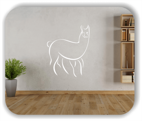 Wandtattoo - Tier Silhouette - ab 50x60 cm - Lama
