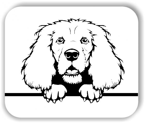 Wandtattoo - Hunde - Cocker Spaniel - ohne Rassename