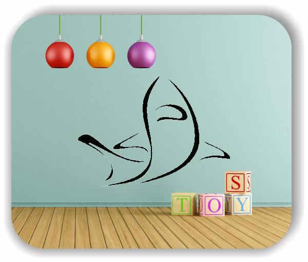 Wandtattoo - Tier Silhouette - ab 50x36 cm - Hai