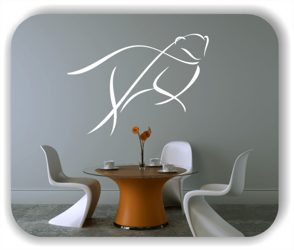 Wandtattoo - Tier Silhouette - ab 50x36 cm - Wiesel