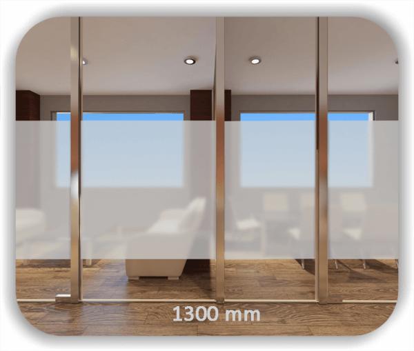 Durchlaufschutzfolie - Milchig - Höhe: 130 cm - Streifen