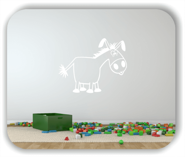 Wandtattoo - Esel